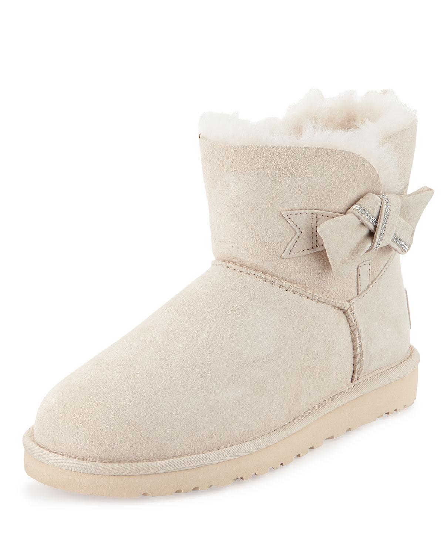 Jackee Mini Crystal-Bow Boot, Fresh Snow