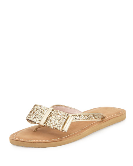 kate spade new york icarda glitter bow flat