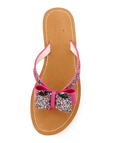 kate spade glitter bow sandal