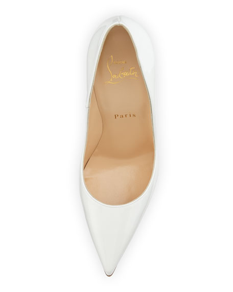 So Kate Patent 120mm Red Sole Pump, White