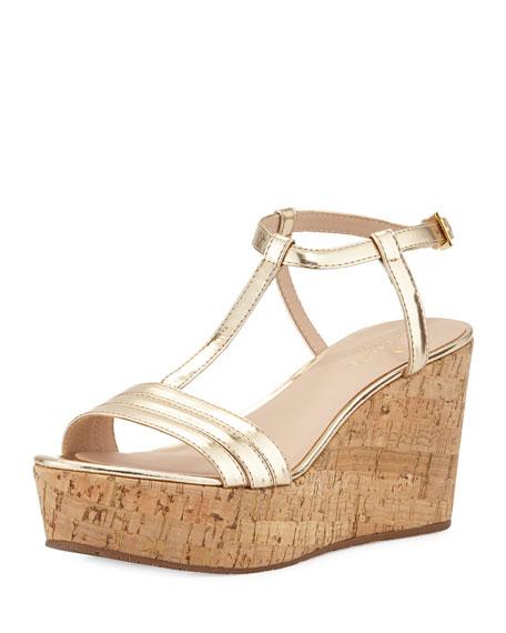 kate spade new york tallin metallic platform sandal,