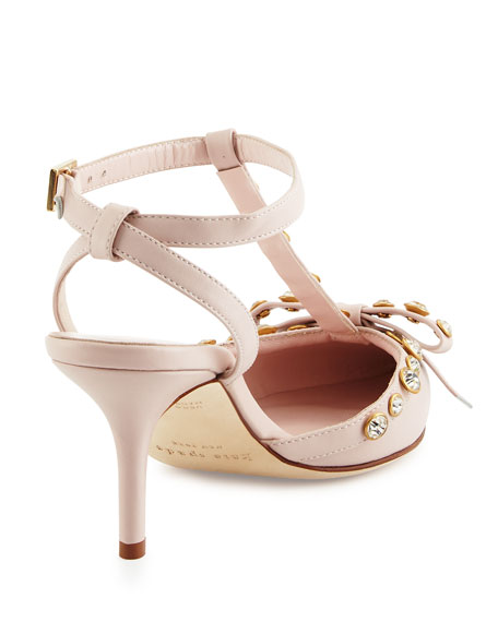 julianna t-strap bow pump, petal pink