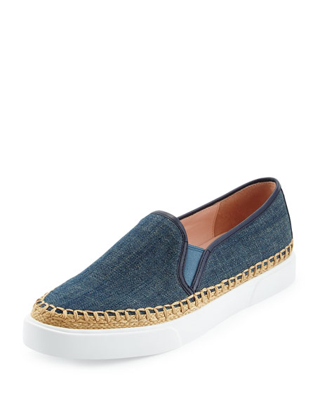 kate spade new york cory denim slip-on sneaker,