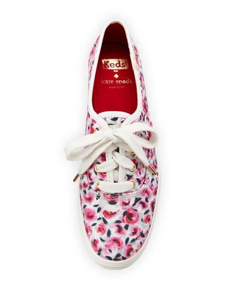 triple kick rose garden canvas sneaker, pink