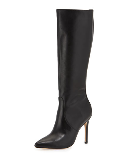 Amanda Leather Knee Boot, Black
