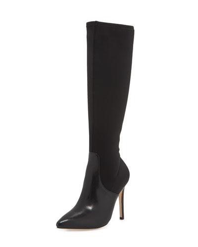 Melissa Stretch Knee Boot, Black
