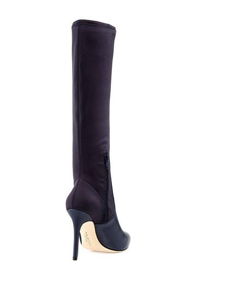 Melissa Pointed-Toe Knee Boot, Ink