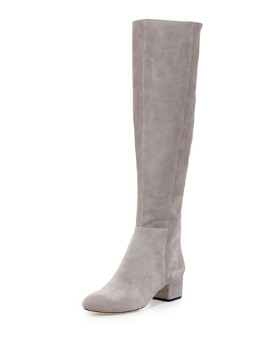 Jennifer Suede Over-the-Knee Boot, Flint
