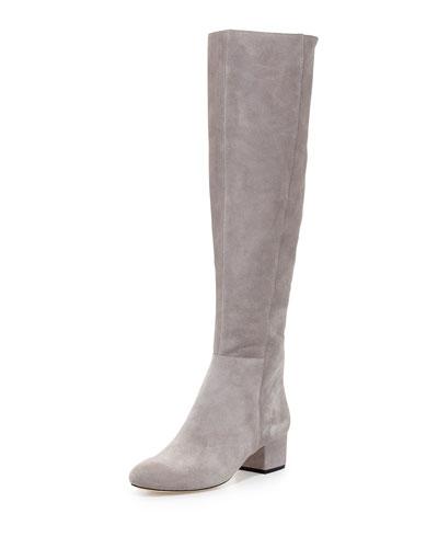 Jennifer Suede Over-the-Knee Boot, Flint