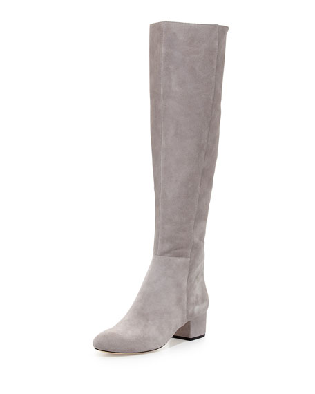 Halston Heritage Jennifer Suede Over-the-Knee Boot, Flint