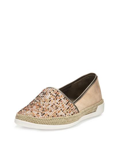 Pizasp Rhinestone Slip-On Sneaker, Natural