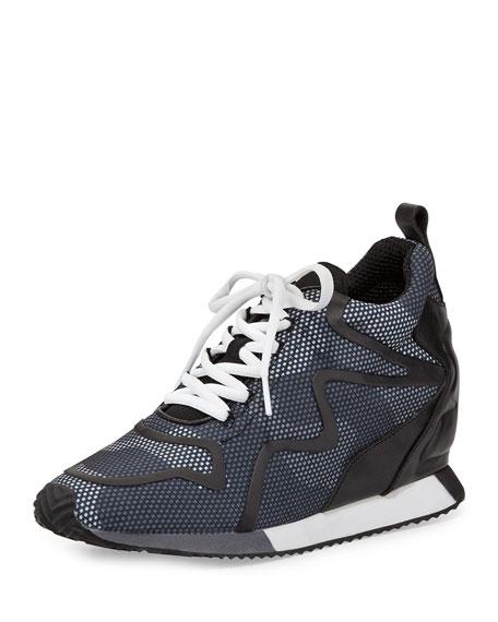 Ash Domino Camouflage-Print Sneaker, Dot Camo/Black