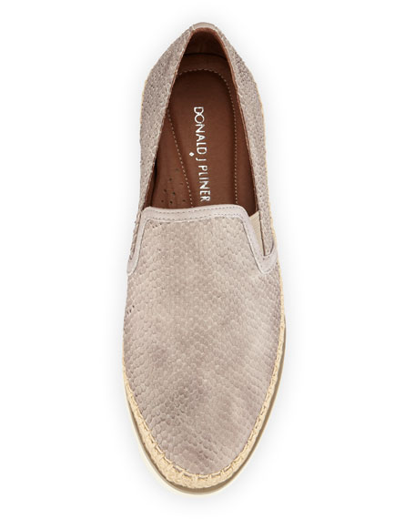 Millie Leather Slip-On Sneaker, Pumice