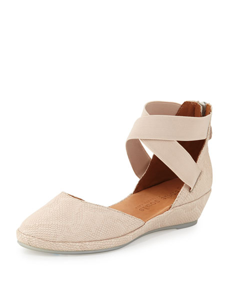 Gentle Souls Noa Leather d'Orsay Wedge, Nude