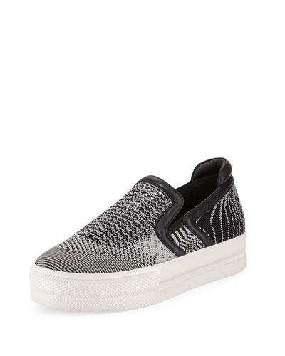 Jeday Knit Skate Sneaker, Marble/Black