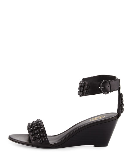Dune Studded Mid-Wedge Sandal
