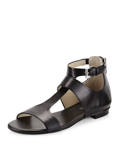 Pamela T-Strap Sandal, Black