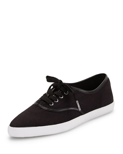 Brennan Lace-Up Point-Toe Sneaker, Black
