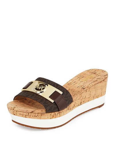 Warren Platform Wedge Sandal, Brown
