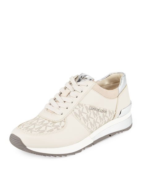 MICHAEL Michael Kors Allie Wrap Logo Sneaker, Vanilla