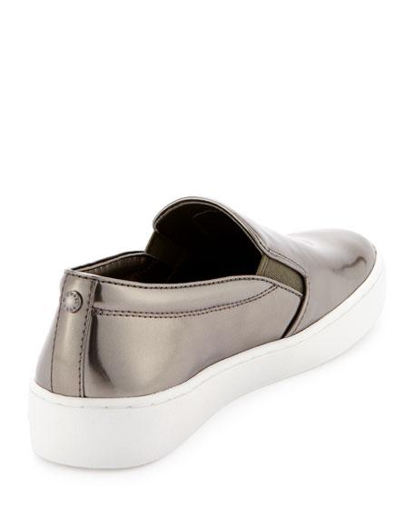 Keaton Mirrored Slip-On Sneaker, Gunmetal