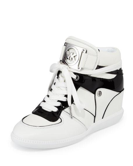 MICHAEL Michael Kors Nikko High-Top Sneaker, Optic White/Black