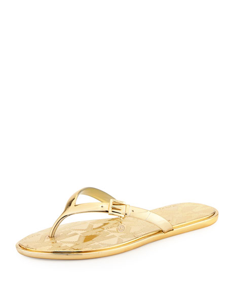 MICHAEL Michael Kors Emory Buckle Flat Thong Sandal,