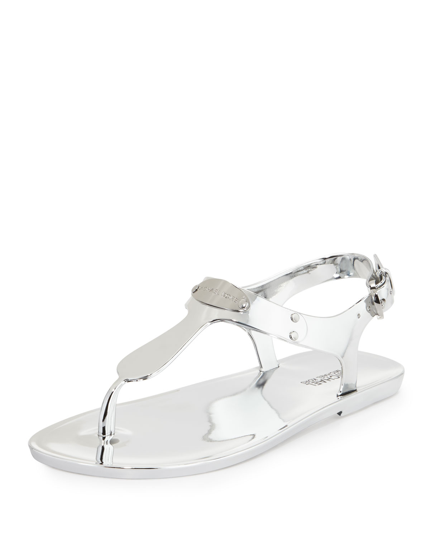 c20c1cd91f5d MICHAEL Michael Kors MK Plate Jelly Flat Thong Sandal