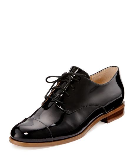 MICHAEL Michael Kors Pierce Patent Cap-Toe Oxford, Black