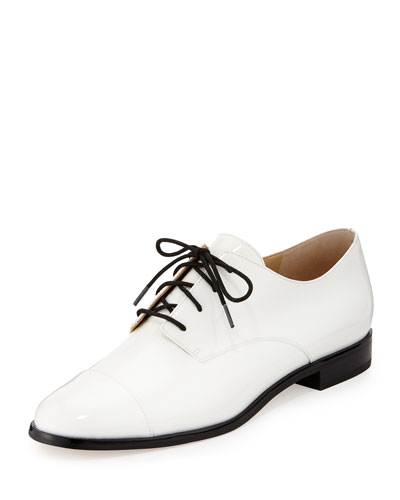 Pierce Patent Cap-Toe Oxford, White
