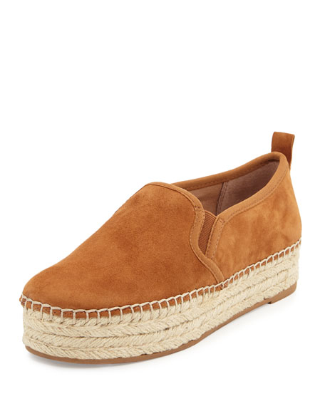 Sam Edelman Carrin Suede Espadrille Slip-On Flat, Saddle
