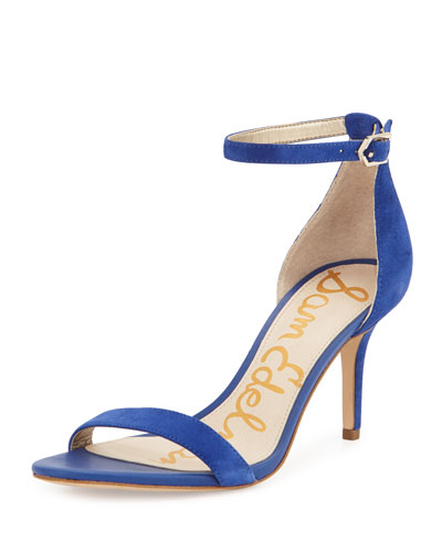 Patti Suede Naked Sandal, Blue