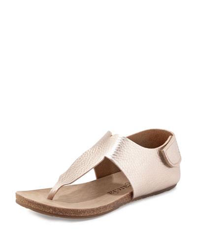Julia Metallic Flat Thong Sandal, Sirocco