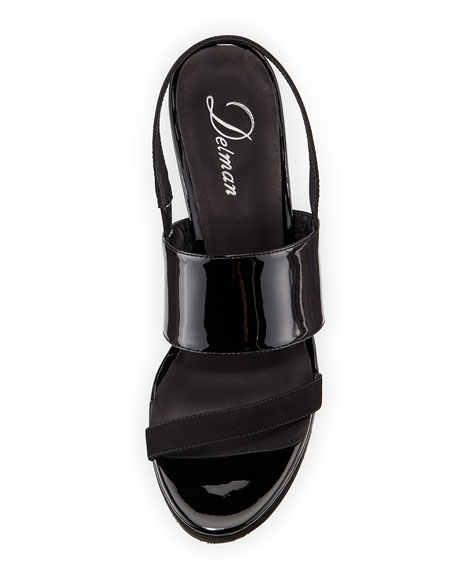 Malia Patent Mid-Heel Sandals
