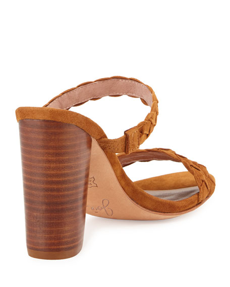 Alexus Braided Mule City Sandal, Whiskey