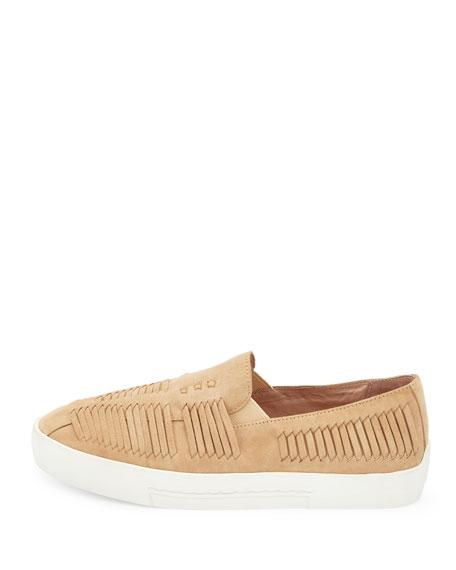 Huxley Fisherman Suede Sneaker, Buff