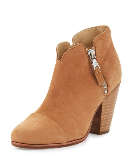Margot Leather Ankle Boot, Tan