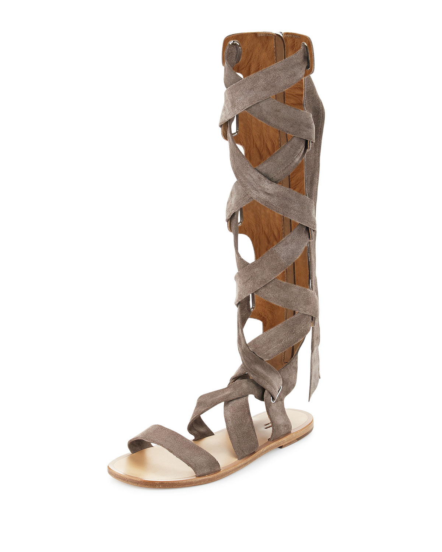 6dc214b0086 Rag   Bone Ilaria Suede Tall Gladiator Sandals