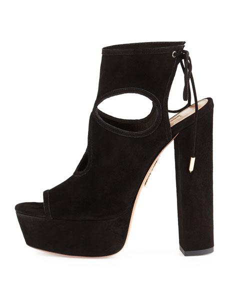 Sexy Thing Platform Sandal, Black