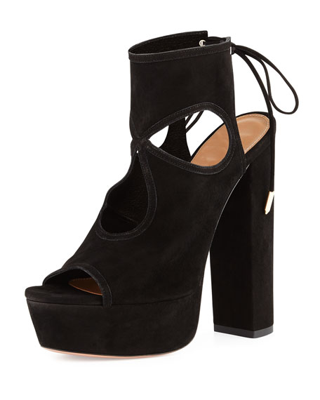 Aquazzura Sexy Thing Platform Sandal, Black