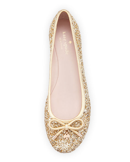 willa glitter Ballet Flat, gold