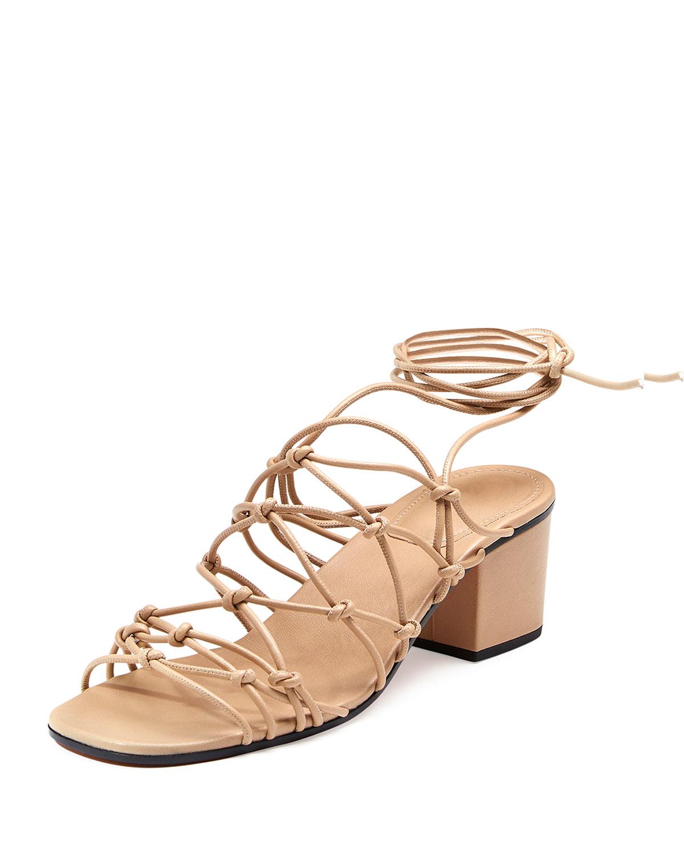 Chloe Knotted Ankle-Wrap Sandal b180b3b3da4