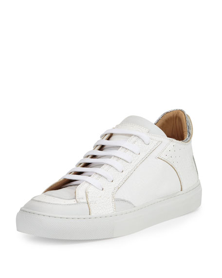 MM6 MAISON MARGIELA Metallic leather sneakers From China Cheap Online CIG0reLVo