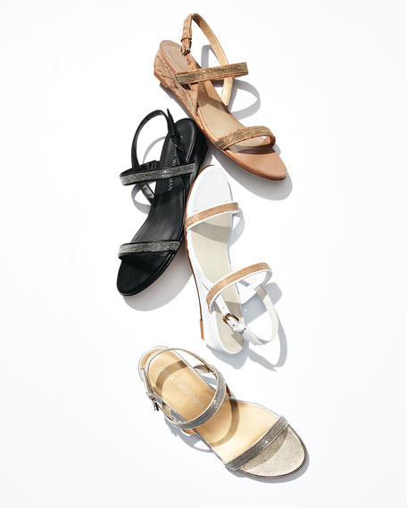 Inchains Leather Demi-Wedge Sandal