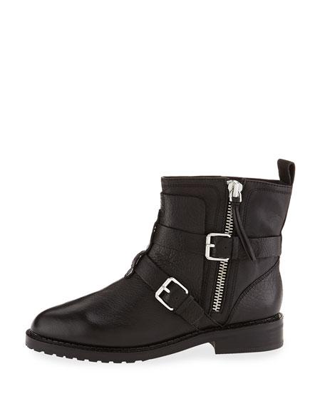 Rebecca Minkoff Griffin Buckle Leather Bootie, Black
