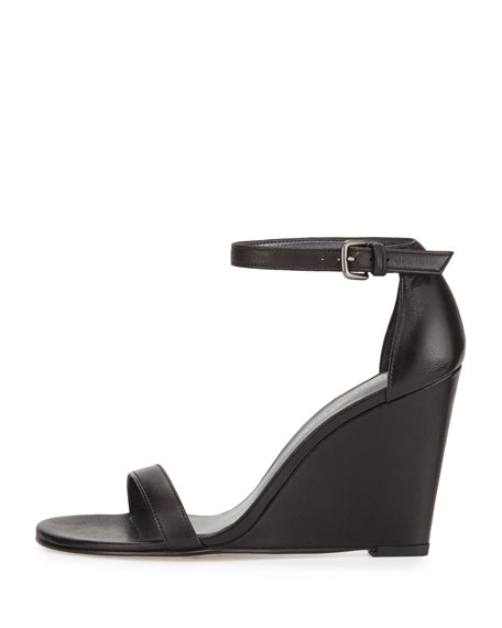 Shop Thick Buckled Ankle Strap Single Band Wedge Sandal BLACK online. SheIn offers Thick Buckled Ankle Strap Single Band Wedge Sandal BLACK & more to fit your fashionable needs.
