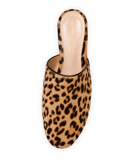 Leopard-Print Calf-Hair Slide, Leopard
