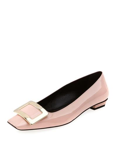 Belle Vivier Patent Ballerina Flat, Pink