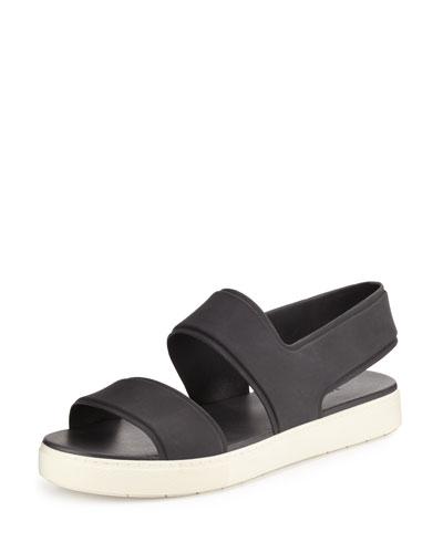 Eres Waterproof Rubber Slingback Sport Sandal, Black
