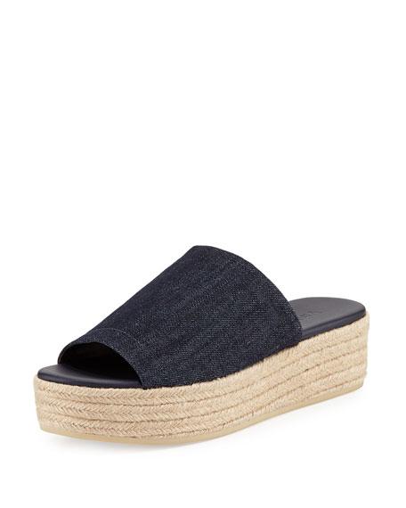 Vince Solana Platform Espadrille Sandal, Dark Denim